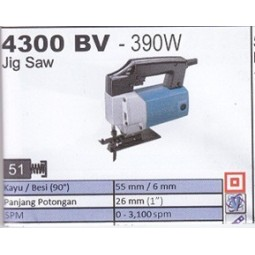 JIG SAW 4300 BV - 390W MAKITA