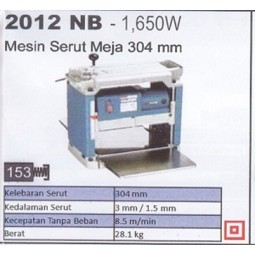 MESIN SERUT MEJA 304 MM (2012 NB - 1650W) MAKITA