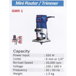 MINI ROUTER / TRIMMER BOSCH GMR 1