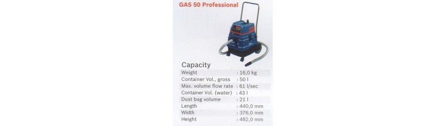 WET & DRY VACUUM CLEANER PROFESSIONAL GAS 50 BOSCH